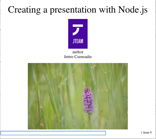 Creating presentations with Node js - Gridshore