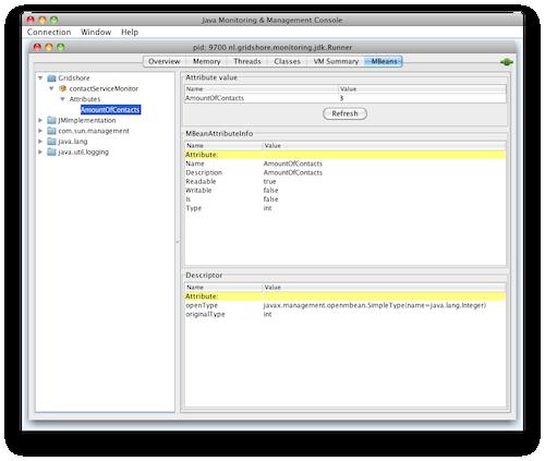 jconsole screendump from runner without jdk